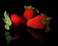 Ställ in från jordgubbar royaltyfria bilder
