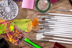 Ställ in garnering för spikar design Royaltyfri Foto