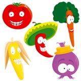 ställ in grönsaken Arkivfoton