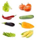 ställ in grönsaker Arkivbilder