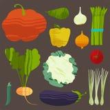 ställ in grönsaker också vektor för coreldrawillustration Royaltyfria Foton