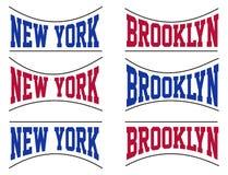 Ställ in högskolan New York City, vektorbild Arkivfoto