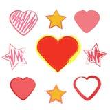 Ställ in hjärta. Förälskelse och romans. Royaltyfri Bild
