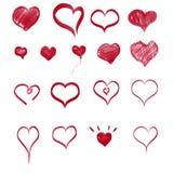 Ställ in i form av hjärta royaltyfri illustrationer