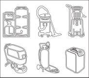 Ställ in illustrationen av lokalvårdutrustning Royaltyfri Fotografi