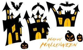 Ställ in illustrationen för halloween Royaltyfri Foto