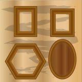 Ställ in illustrationen för vektorn för tappningträramdesignen Vektor Illustrationer