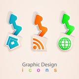 Ställ in internet för rss för hemmet för logoen för mappsymbolspilen  Arkivfoto