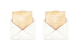 Ställ in kuvertet med en bokstav Royaltyfri Bild