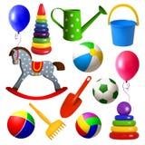 Ställ in leksaker för unga barn vektor illustrationer