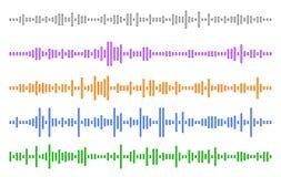 Ställ in ljudsignallinjen Vektorillustration för EPS 10 Royaltyfri Bild