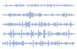 Ställ in ljudsignallinjen Vektorillustration för EPS 10 Arkivfoton