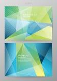 Ställ in lodlinjen av broschyrer i modern abstrakt stil Arkivbild