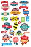 Ställ in marknadsföringsetiketter Fotografering för Bildbyråer