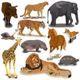 Ställ in med djur Arkivbild