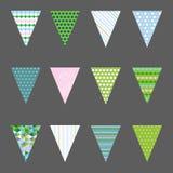 Ställ in med flaggor också vektor för coreldrawillustration 10 eps Royaltyfria Foton