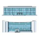 Ställ in med två moderna byggnader också vektor för coreldrawillustration Royaltyfria Bilder