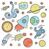 Ställ in med utrymmesamlingen vektor illustrationer