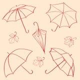 ställ in paraplyet Arkivbilder