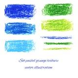 Ställ in pastellfärgade grungetexturer. Vektorillustration EPS 10 Royaltyfri Bild