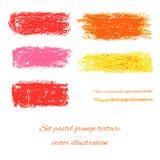 Ställ in pastellfärgade grungetexturer. Vektorillustration EPS 10 Arkivfoton