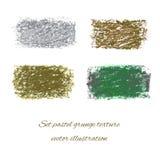 Ställ in pastellfärgade grungetexturer. Vektorillustration EPS 10 Fotografering för Bildbyråer