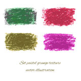 Ställ in pastellfärgade grungetexturer. Vektorillustration EPS 10 Arkivbild