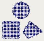Ställ in patchworken Royaltyfri Fotografi