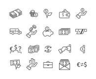 Ställ in pengarsymbolen vektor illustrationer