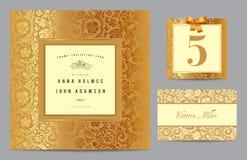 Ställ in polygraphyen för att fira bröllopet. stock illustrationer