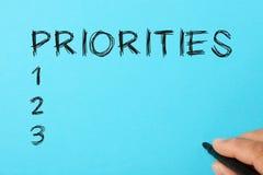 Ställ in prioritetsbegreppet fotografering för bildbyråer
