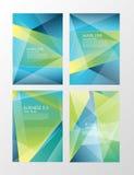 Ställ in reklambladmallen Blå abstrakt orienteringsmall med fyrkanter Redigerbar affisch A4 för designen, utbildning, presentatio Fotografering för Bildbyråer