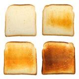 ställ in rostat bröd Royaltyfri Fotografi