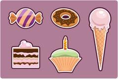 ställ in sötsaker Royaltyfria Bilder