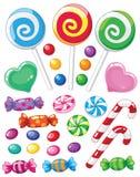 ställ in sötsaker vektor illustrationer