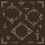 Ställ in samlingen av calligraphic beståndsdelar för vektor och sidagarneringar Royaltyfria Foton
