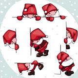 Ställ in Santa Claus Arkivbilder