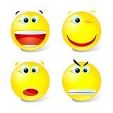 ställ in smiles1 Arkivbild
