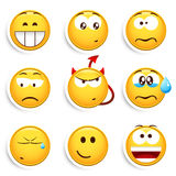 ställ in smileys Royaltyfria Bilder