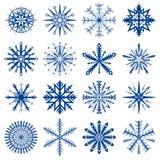 ställ in snowflaken Arkivbilder