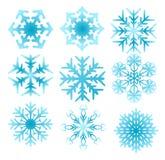 ställ in snowflaken Fotografering för Bildbyråer
