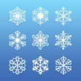 ställ in snowflaken Royaltyfri Bild