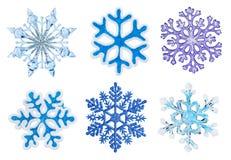 ställ in snowflakes Royaltyfri Bild