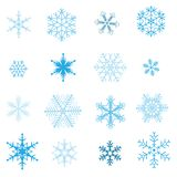 ställ in snowflakesvektorn Royaltyfri Foto