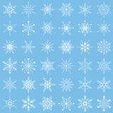 ställ in snowflakesvektorn Arkivfoto