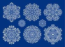 ställ in snowflakesvektorn Royaltyfri Fotografi
