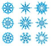 ställ in snowvektorn Vektor Illustrationer