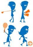 ställ in sportar vektor illustrationer