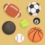 Ställ in sportbollvektorn Royaltyfri Foto