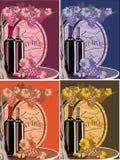 Ställ in, stilleben i olika färger - druvor, vin och trävinfatet Royaltyfri Bild